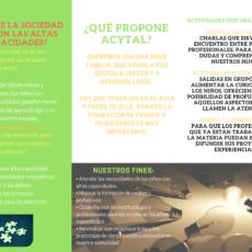 Tríptico informativo sobre Acytal